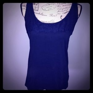 Women's Eddie Bauer tank top with lace detail